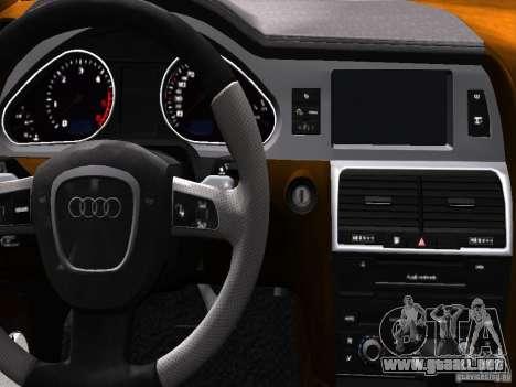 Audi Q7 V12 TDI Quattro Final para GTA 4 interior
