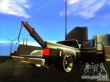 Chevrolet Silverado Towtruck para GTA San Andreas vista hacia atrás