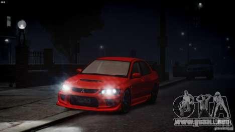 Mitsubishi Lancer Evolution 8 v2.0 para GTA 4 vista interior
