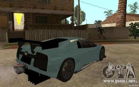 Lamborghini Murcielago R-GT para GTA San Andreas vista posterior izquierda