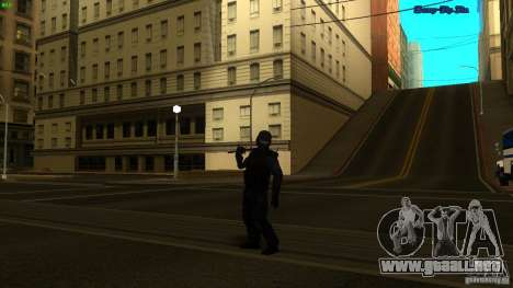 SWAT Officer para GTA San Andreas tercera pantalla