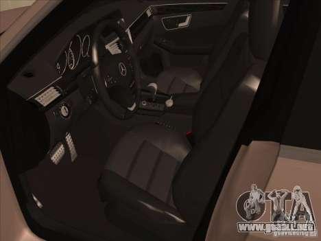 Mercedes-Benz E63 AMG Black Series Tune 2011 para GTA San Andreas vista hacia atrás