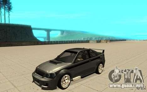 GTA IV Sultan RS FINAL para visión interna GTA San Andreas