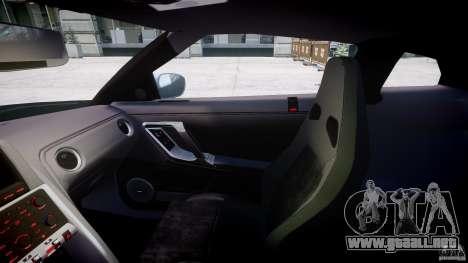 Nissan GT-R R35 2010 v1.3 para GTA 4 vista hacia atrás