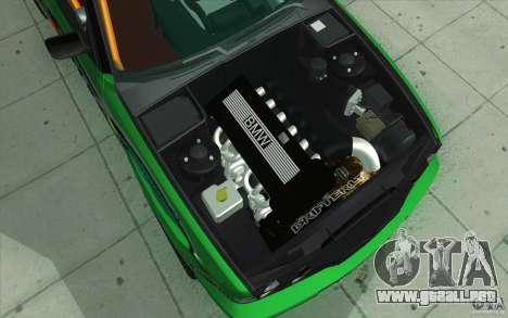 BMW E34 V8 Wide Body para vista inferior GTA San Andreas