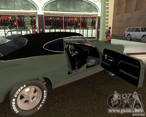 Chevrolet Chevelle 1968 para la visión correcta GTA San Andreas
