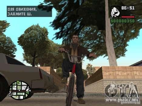 Niko Bellic para GTA San Andreas sexta pantalla