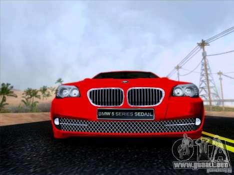 BMW 550i 2012 para visión interna GTA San Andreas