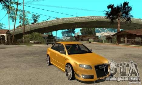 Audi RS4 2006 v2 para GTA San Andreas vista hacia atrás
