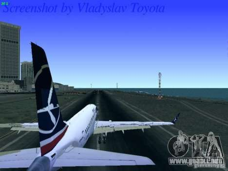 Embraer ERJ 190 LOT Polish Airlines para GTA San Andreas vista hacia atrás