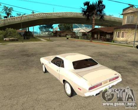Dodge Challenger R/T Hemi 70 para GTA San Andreas left