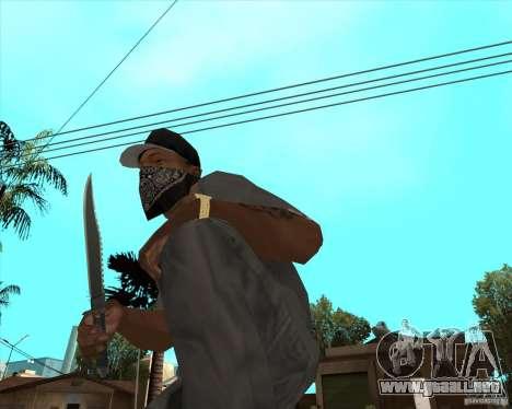 Rambo HD para GTA San Andreas segunda pantalla