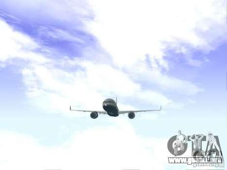 Boeing 757-200 United Airlines para la visión correcta GTA San Andreas