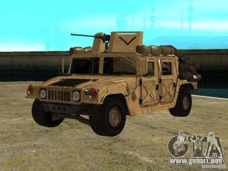 Hummer H1 HMMWV with mounted Cal.50 para GTA San Andreas