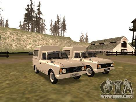IZH 2715 para visión interna GTA San Andreas