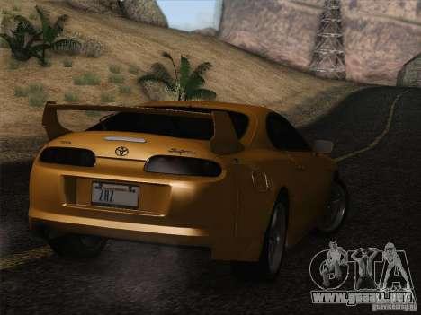 Toyota Supra TRD3000GT v2 para vista inferior GTA San Andreas