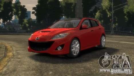 Mazda Speed 3 2010 para GTA 4 Vista posterior izquierda