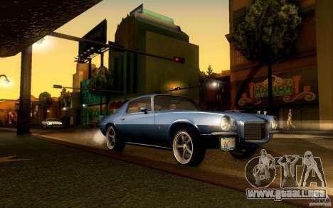 Chevrolet Camaro Z28 para la vista superior GTA San Andreas
