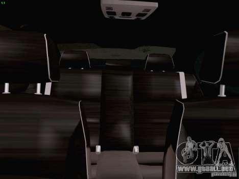 BMW M3 E90 Sedan 2009 para vista lateral GTA San Andreas