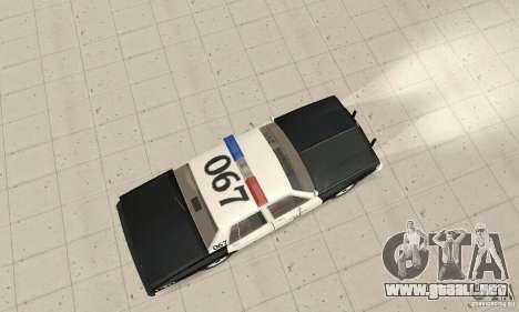 Chevrolet Caprice Interceptor 1986 Police para la visión correcta GTA San Andreas