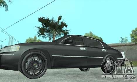 Lincoln Town Car 2002 para la visión correcta GTA San Andreas