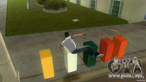 Cleo Parkour for Vice City para GTA Vice City quinta pantalla