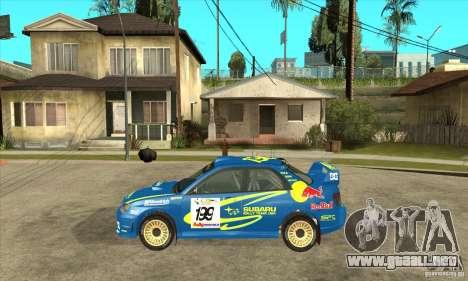 Subaru Impreza STi WRC wht2 para la visión correcta GTA San Andreas