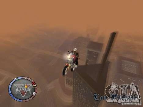GTA 5 HUD para GTA San Andreas sexta pantalla