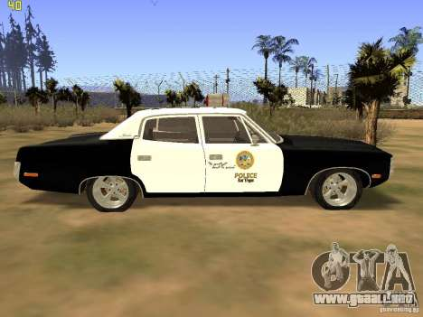 AMC Matador SA Police 1971 Final para GTA San Andreas vista posterior izquierda