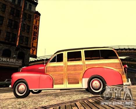 Chevrolet Fleetmaster 1948 para GTA San Andreas vista hacia atrás