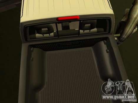 Nissan Frontier para visión interna GTA San Andreas