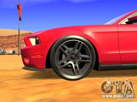 Ford Shelby GT500 para la visión correcta GTA San Andreas