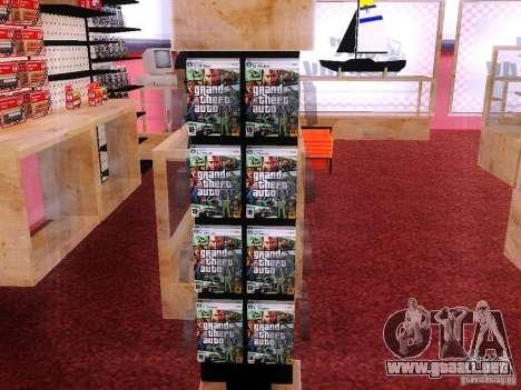 Conduce con el GTA en tienda cero para GTA San Andreas segunda pantalla
