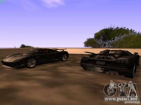 Koenigsegg CCXR Edition para GTA San Andreas vista posterior izquierda