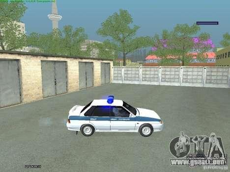 VAZ 2115 PPP policía para GTA San Andreas vista posterior izquierda