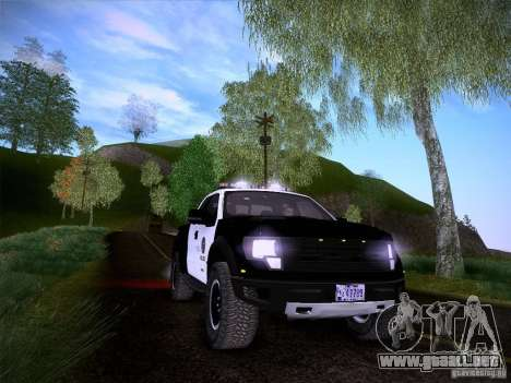 Ford Raptor Police para vista inferior GTA San Andreas