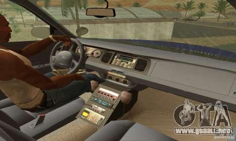 Ford Crown Victoria Virginia Police para GTA San Andreas vista posterior izquierda