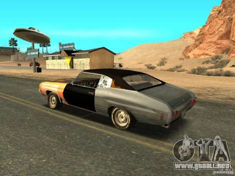 Chevrolet Chevelle Rustelle para GTA San Andreas left