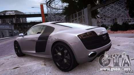 Audi R8 V10 para GTA 4 vista hacia atrás