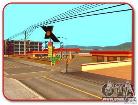 Nueva estación de servicio Shell para GTA San Andreas sucesivamente de pantalla