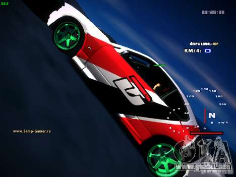 Nissan Silvia S15 DragTimes para GTA San Andreas vista hacia atrás