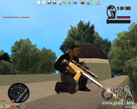 Smalls Chrome Gold Guns Pack para GTA San Andreas octavo de pantalla