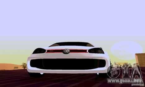 Volkswagen Golf 5 GTI W12 para GTA San Andreas vista hacia atrás