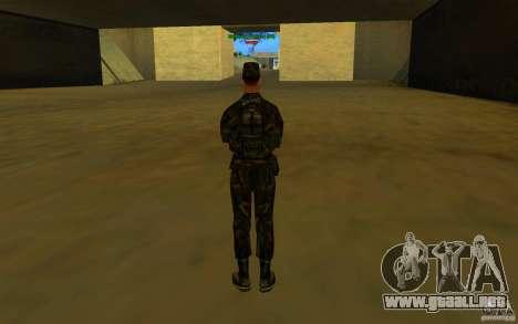 HQ skin Army para GTA San Andreas quinta pantalla