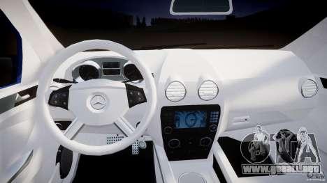 Mercedes-Benz ML63 AMG para GTA 4 visión correcta