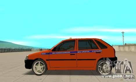 Volkswagen Gol G4 Taxi para GTA San Andreas left