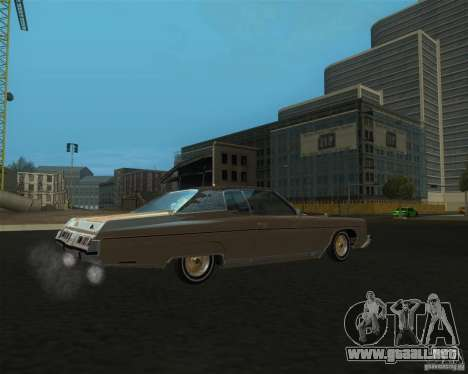 Chevrolet Caprice Classic lowrider para GTA San Andreas left