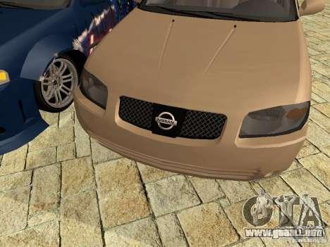 Nissan Sentra para GTA San Andreas vista posterior izquierda