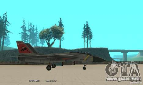 F14W Super Weirdest Tomcat Skin 2 para GTA San Andreas left