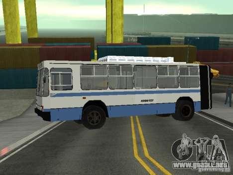 YUMZ T1 para GTA San Andreas vista posterior izquierda